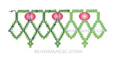 Free pattern for beaded necklace Сranberry | Beads Magic