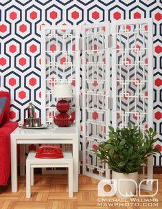 RED, WHITE & BLUE living room  // For Barbie