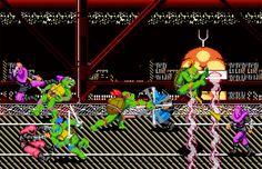 Video Game Print - TMNT - Turtles in Time - Digital Art Print - Super Nintendo…
