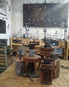 jewelryclassdc Moving anvils. #studioart #studioasart #jewelrybench…