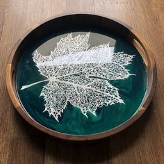 Resin Jewelry Making, Serving Tray Wood, Round Tray, Create And Craft, Acacia Wood, Clay Art, Trays, Paintings, Abstract
