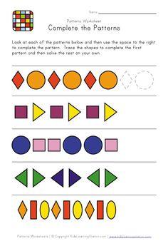 1000 images about pattern worksheets on pinterest worksheets preschool and patterns. Black Bedroom Furniture Sets. Home Design Ideas