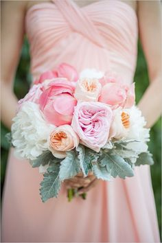 Pink patterned garden wedding. Captured By: Krista Fox Photography #weddingchicks http://www.weddingchicks.com/2014/09/22/pink-patterned-garden-wedding/