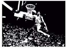 Michael Jordan Chicago Bulls Basketball Dunk Dorm Decor Silhouette WALL ART  STICKER VINYL DECAL ROOM STENCIL Part 77