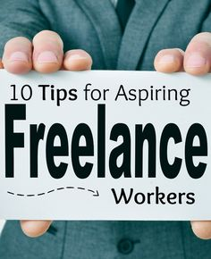 Have you ever thought about doing freelance work to make some extra money? Read these 10 tips for aspiring freelance workers.