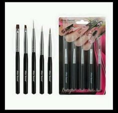 Mia Secret 5 Pcs Professional Nail Art Design Brush Set (NB5P) #MiaSecret