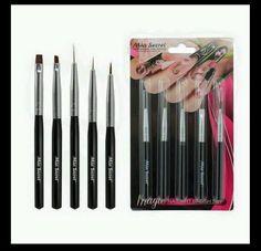 Mia Secret 5 Pcs Professional Nail Art Design Brush Set (NB5P) #MiaSecret