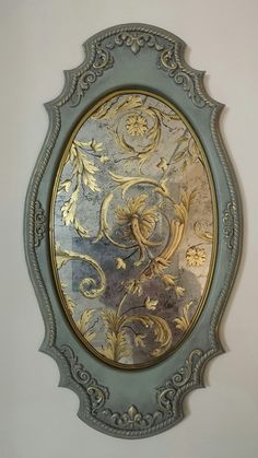 Discover recipes, home ideas, style inspiration and other ideas to try. Recycled Furniture, Home Decor Furniture, Painted Furniture, Diy Home Decor, Antique Picture Frames, Antique Pictures, Mirror Painting, Diy Mirror, Wall Mirror