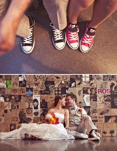 I can't resist any wedding that involves #chucks