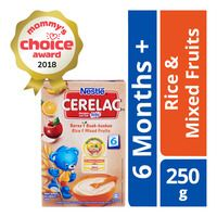 Nestle Cerelac Cereal Rice Mixed Fruits 6 Months Baby Food