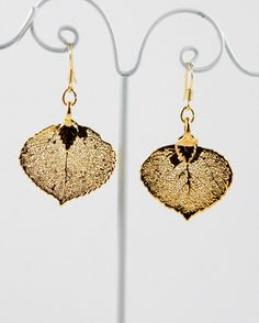 Gold aspen earrings....a little bit of Denver with me I've always wanted some of these should have got them when I was in Denver.