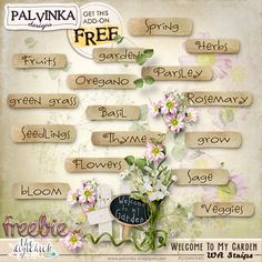 FREEBIE: Welcome To My Garden WA Strips by Palvinka Designs | Digital Scrapbook