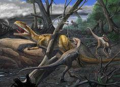 neovenator and eotyrannus by atrox1