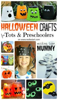 Frightfully Cute and Easy Halloween Crafts for Toddlers and Preschoolers. If you are looking for fun and cute Halloween Ideas, look no further. Wonderful ideas to get little ones excited (and not scared!) about Halloween. Cute, spooky fun for kids.