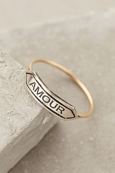 Amour Banner Ring #anthrofave #anthropologie #women #accessories