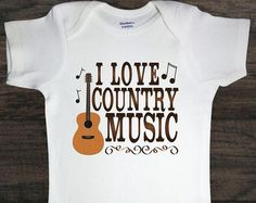 I love country music onesie – Etsy
