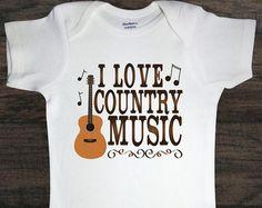 I love country music onesie – Etsy