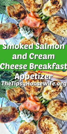 Smoked Salmon and Cream Cheese make this an appetizer that is perfect for holiday or special mornings. Breakfast Appetizers, Make Ahead Appetizers, Thanksgiving Appetizers, Thanksgiving Recipes, Christmas Recipes, Holiday Recipes, Brunch Dishes, Brunch Recipes, Appetizer Recipes
