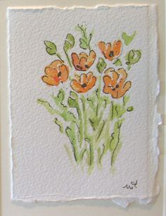 Watercolor Note Card
