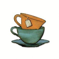 Sizzix - Tim Holtz - Alterations Collection - Bigz Die - Tea Time