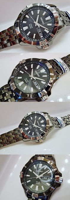Other Watches 166739: New Seiko Mens Sne177 Modern Non-Working Sample Solar 100M V158 0Ah0 BUY IT NOW ONLY: $45.0