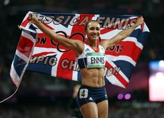 Jessica Ennis  Won Gold in the Women's Heptathlon with a score 6,955 points