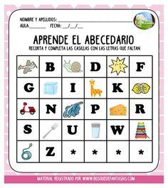 El Abecedario Para Recortar Homeschool, Education, Words, Chelsea, Nice, Name Letters, Teaching Reading, Amor, Preschool Alphabet Activities