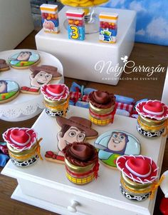 Fun favors at a Toy Story birthday party! See more party planning ideas at CatchMyParty.com!