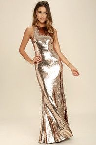 Your beauty will be known for miles around when you slip into the Notorious Rose Gold Sequin Maxi Dress! Shiny sequins sparkle atop a sleeveless, darted bodice. Maxi Dress With Sleeves, Dress Skirt, Maxi Skirts, Bodycon Dress, Formal Attire For Men, Sequin Maxi, Pink Sequin, Different Dresses, Mother's Day