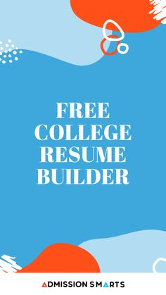 Colleges want to know everything about you, not just your test scores and GPA. Use our Student Resume Builder to organize your High School Career. High School Resume, College Resume, Student Resume, Free Resume Builder, Great Resumes, Resume Help, College Application, College Admission, Organize