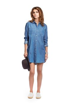 A longer relaxed summer shirt from demin. Summer Shirts, Archipelago, Shirt Dress, Spring, Dresses, Women, Fashion, Vestidos, Moda