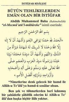 Tövbe önemli Doa Islam, Allah Islam, Prayers, Math, Istanbul, Corona, Quotes, Math Resources, Early Math