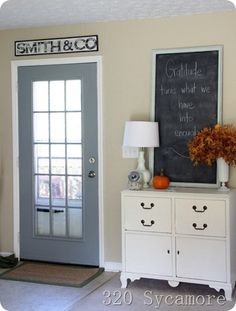 Vintage style sign - just print out large letters, trace with a sharpie and paint. Super easy!