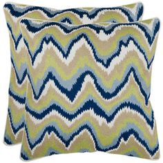 I pinned this from the Pattern Perfect - Rugs & Pillows in Lively Prints event at Joss and Main!  Good color combo for the family room. never thought about navy, but couch is beige-green, so this would be a good pop!