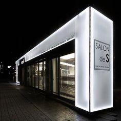 미용실 인테리어 스투디오올라 Entrance Design, Facade Design, Exterior Design, Retail Facade, Shop Facade, Shop House Plans, Shop Fronts, Shop Front Design, Stand Design