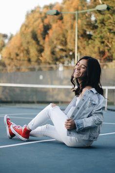 Tennis court photo shoot