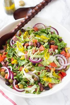 Italian Sub Salad - This salad is just like your favorite sub sandwich but totally healthy, gluten free, and Paleo!