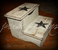 Very easy to build primitive furniture Wood Block Crafts, Wooden Crafts, Wood Projects, Craft Projects, Primitive Furniture, Primitive Crafts, Diy Furniture, Primitive Country, Country Crafts