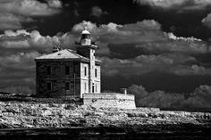 Peneda Cape Lighthouse, the southern cape of the island of Veliki Brijuni, National Park Brijuni, Croatia