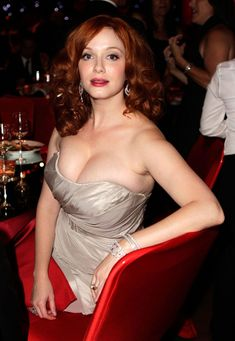 Actress and model Christina Hendricks ...  classy american Hairstyles...