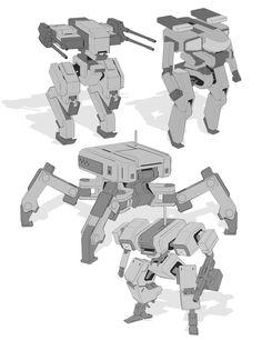 ArtStation - One week of robot sketches, Timo Kujansuu