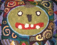 Had fun with this. Design taken from Rug Hooking Magazine.