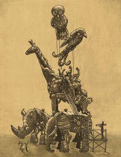 Mechanical Menagerie  by Eric Fan