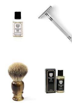 Tools and steps to a great shave:  1. Pre-shave oil: Adding this to your skin will protect it from irritation by helping your razor glide across your skin during your shave.   2. Badger hair brush: A badger hair shaving brush retains hot water in its bristles and raises your hairs.  3. Razor: When paired with the products above, it results in a comfortable, barber level shave absent of drag.