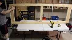 DIY Mobile & Modular Workbench To Bring Your Shop to the Next Level – Gadgets and Grain Garage Workbench Plans, Building A Workbench, Workbench Designs, Mobile Workbench, Woodworking Bench Plans, Woodworking Workbench, Woodworking Projects Diy, Diy Wood Projects, Garage Bench