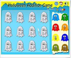 """Halloween Addition Game"" (Softschools.com)"