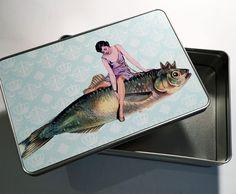 Dosen - Kunst auf Blechdose Geschenk - ein Designerstück von Art-istique bei DaWanda