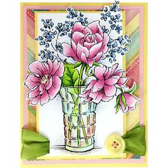 Stampendous Stamps » Cling Rubber™ Stamps » Flower Garden » Cling Vase Bouquet