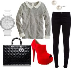 """Red and Black"" by mstinso5 on Polyvore"