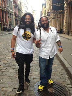 Rohan and Ky-Mani Marley Bob Marley Kids, Reggae Bob Marley, Marley Family, Marley Brothers, Marley Coffee, Bob Marley Pictures, Rasta Man, Jah Rastafari, Damian Marley